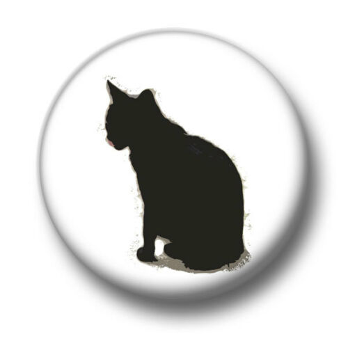 25mm Pin Button Badge Black Cats Kittens Feline Fun Cute Moggy New Cat 1 Inch