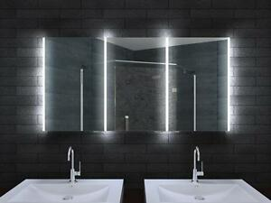 Details zu Aluminium LED Beleuchtung Badschrank Licht Badezimmer spiegel  schrank 140 cm