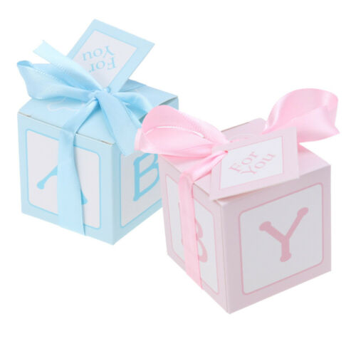 12pcs Cards Wedding Printed Baby Shower Treat Boxes Candy Boxes for Party Favors