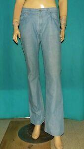 jean droit PAUL & JOE modele : auboulot  en coton bleu clair taille 40 fr