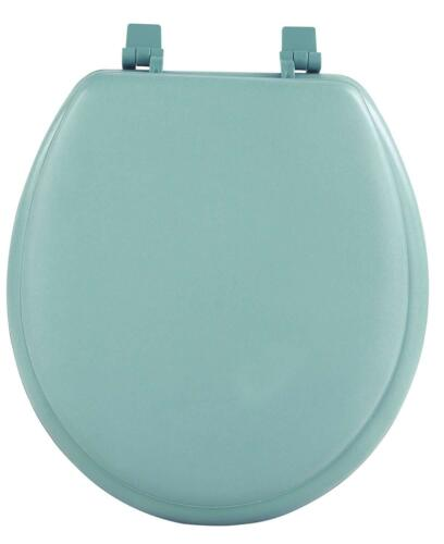 Premium Green Soft Padded Toilet Seat Cushioned Standard Round Cover Regular NEW