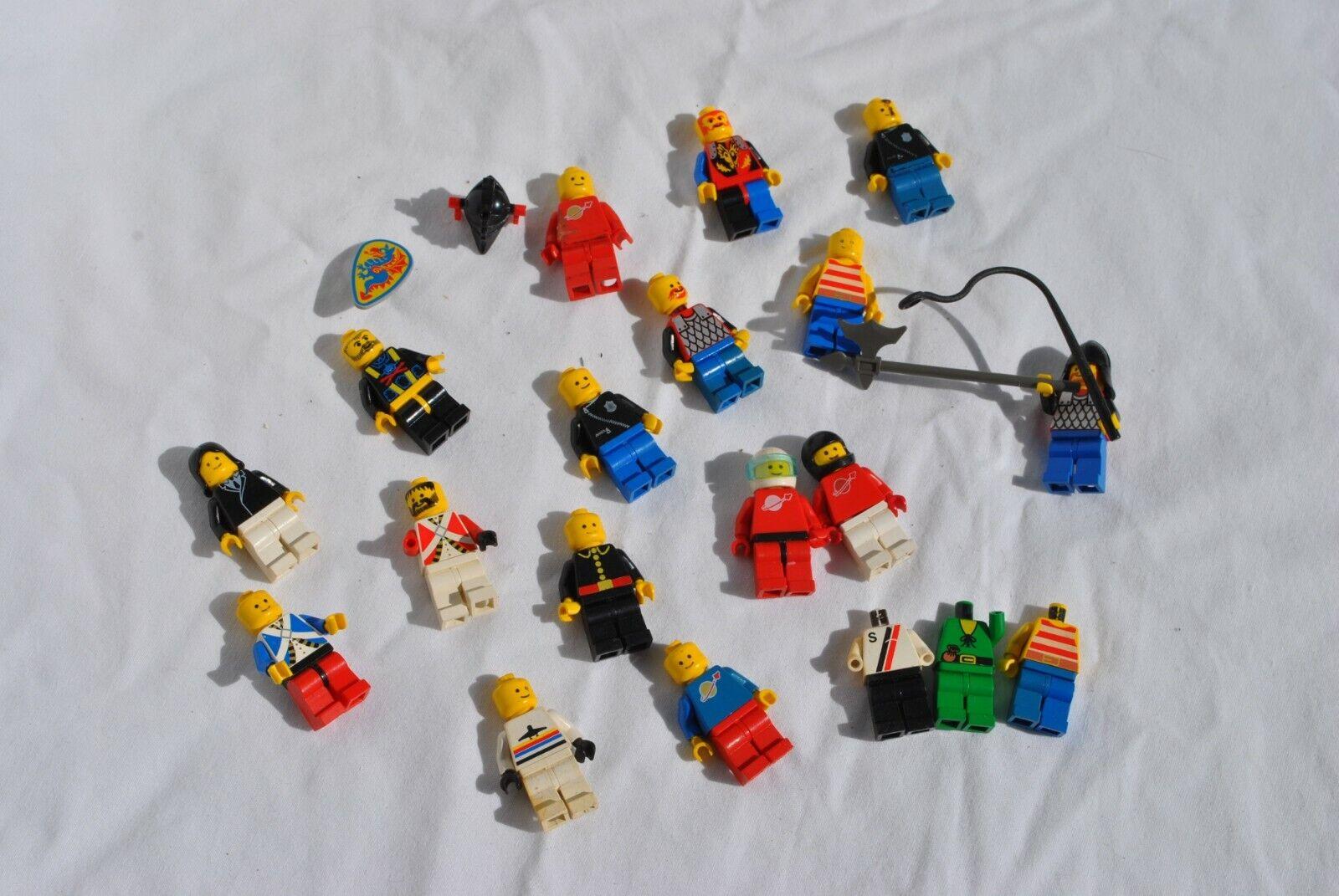 Vintage LEGO 1980'S Futuron Spaceman Classic Classic Classic Minifigure Lot of 19 423248