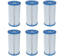 COLEMAN SWIMMING POOL A/C FILTER PUMP REPLACEMENT CARTRIDGE 6 PACK FOR INTEX