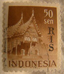 Indonesia Stamp 1950 Scott 350 A45 50 Sen Overpint