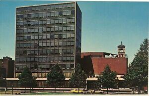 New-York-University-NY-Student-Union-Building-Street-View-Vintage-Postcard