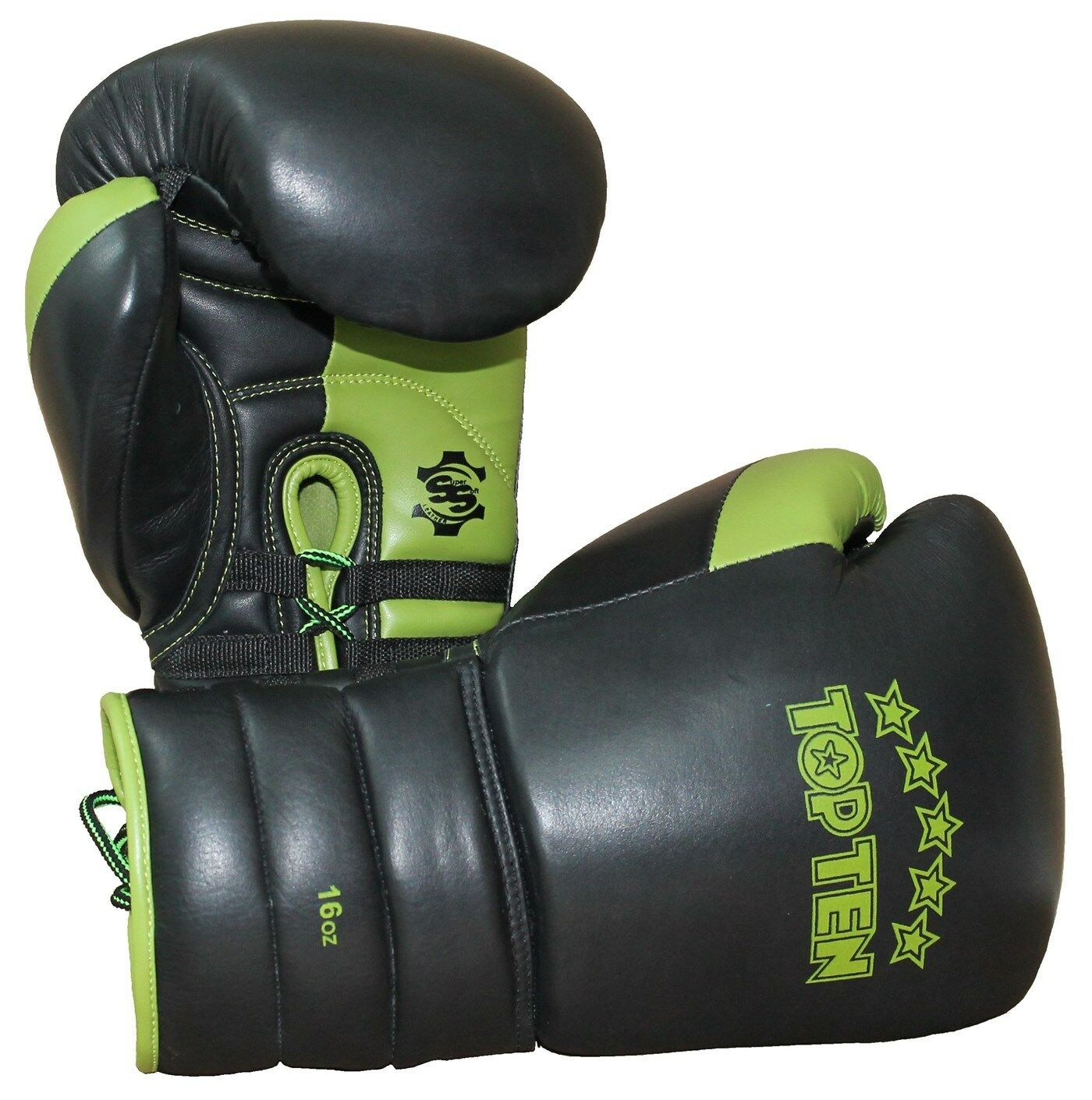 Top Ten- Boxhandschuh für für für Sparring und Training.  Lace Up . 16oz Grün. Grün. 5db621