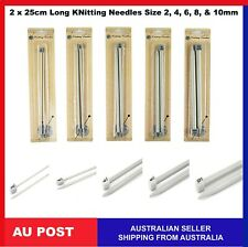 Morgan Bone Knitting Needles 25cm x 6.50mm