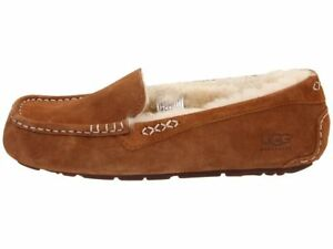 UGG-ANSLEY-CHESTNUT-Women-039-s-Moccasin-Slippers-3312