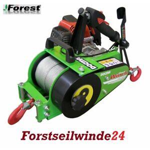 Forstseilwinde-Docma-VF-150-Seilwinde-inkl-80m-Stahlseil-Benzinwinde