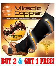 Miracle Copper Socks Anti Fatigue Compression Socks, UNISEX (SMALL/MEDIUM)
