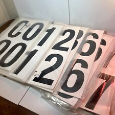 Lot Of 105 Sheets Of Vinyl Price Sticker Number Decals Extra Large 9 X 5 Nip