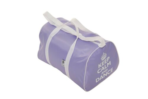 5 COLOURS DANCE HOLDALL WITH KEEP CALM AND DANCE MOTIF IN