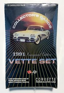 1991-Collect-A-Card-VETTE-SET-card-box-Inaugural-Edition-from-a-sealed-case-36pk