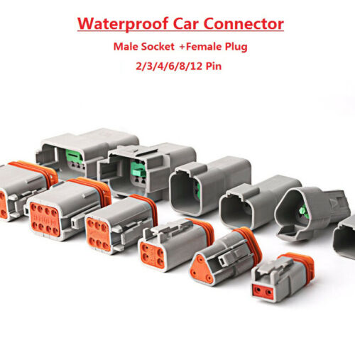 Waterproof Sealed Cable Electrical Wire Connector Plug For Car 2//3//4//6//8//12 Pins