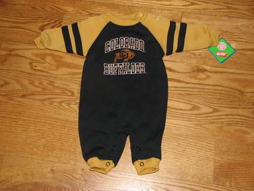 NEW CU Buffs Colorado Buffaloes Baby Romper Size 6//9M 6//9 Mo Boys Girls Creeper