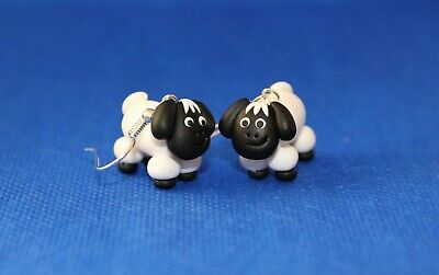 easter chick earrings drops cute  fimo handmade easter gift emo fun