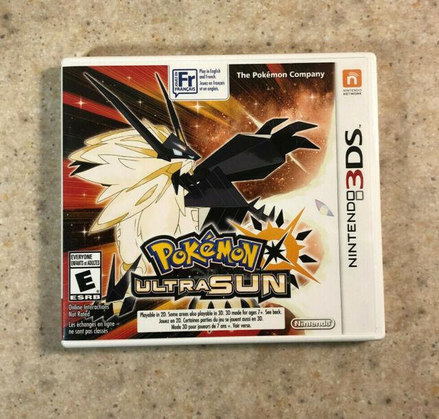 Pokémon Ultra Sun (Nintendo 3DS, 2017)