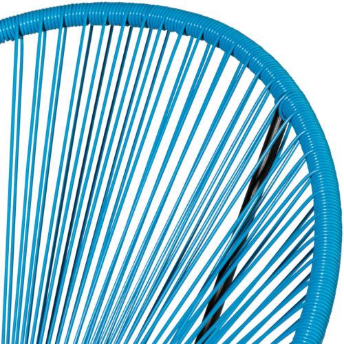 2 Fauteuils design acapulco chaises de salon de jardin rétro