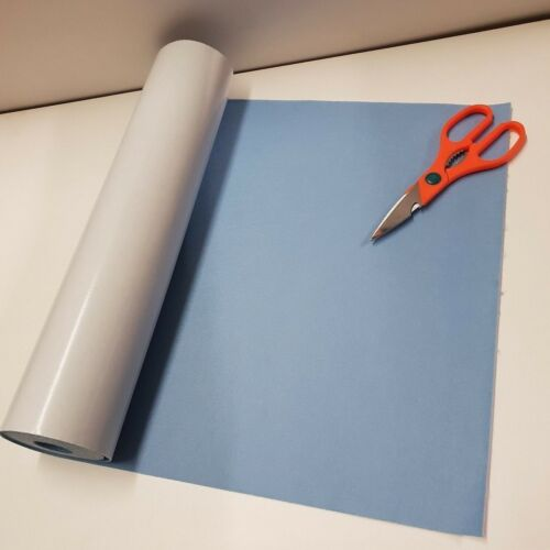 Half Mtr x 450mm wide roll of BABY BLUE STICKY BACK SELF ADHESIVE FELT BAIZE