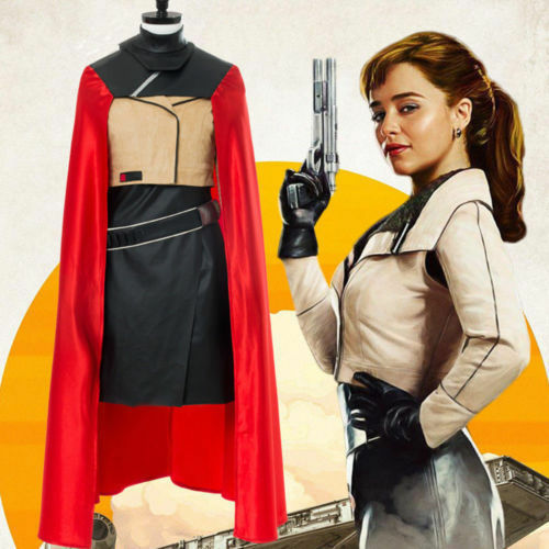 Star Wars Story Qi/'ra Cosplay Costume Cape Jacket Outfit Halloween Carnival Cos