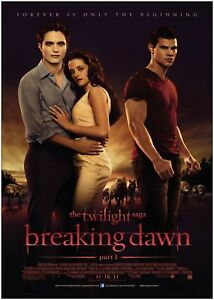Twilight Breaking Dawn Classic Large Movie Poster Art Print A0 A1 A2 A3 A4 Maxi