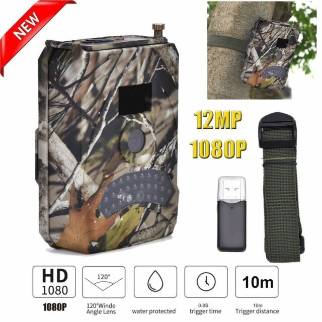 12MP 1080P Hunting Camera Animal Scouting Infrared Night Vision Camera Video❤G
