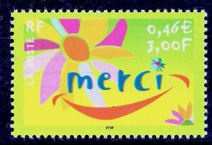 TIMBRE-FRANCE-NEUF-N-3379-MESSAGE-MERCI