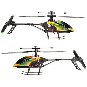 WLtoys-V912-4CH-2-4GHz-lame-unique-rc-radio-telecommande-helicoptere-gyro-rtf