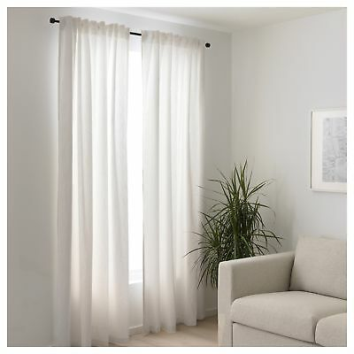 1 Pair Ikea White Curtains Mildrid Bedroom Living Room