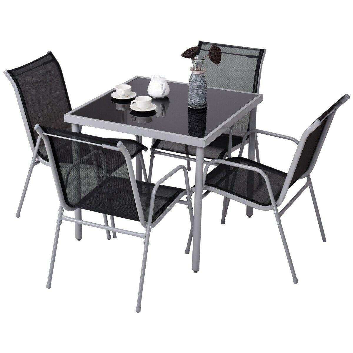 Set 1 tavolo + 4 sedie giardino balcone prato Casa pranzo ...