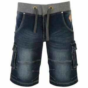 Mens-Quality-Big-Size-KAM-Denim-Cargo-Combat-Style-Shorts-42-034-60-034-Waist