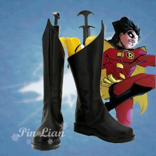 Batman Robin Tim Stefani Shoes Boots Anime Super Hero Cosplay Halloween
