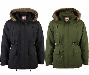 Men's Padded Fishtail Parka Coat by Fieldfox - Detachable Hood ...