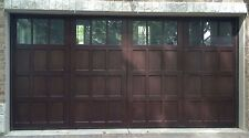 16x8 Wood Insulated Overhead Carriage House Garage Door AmanaDoors Model 104W6