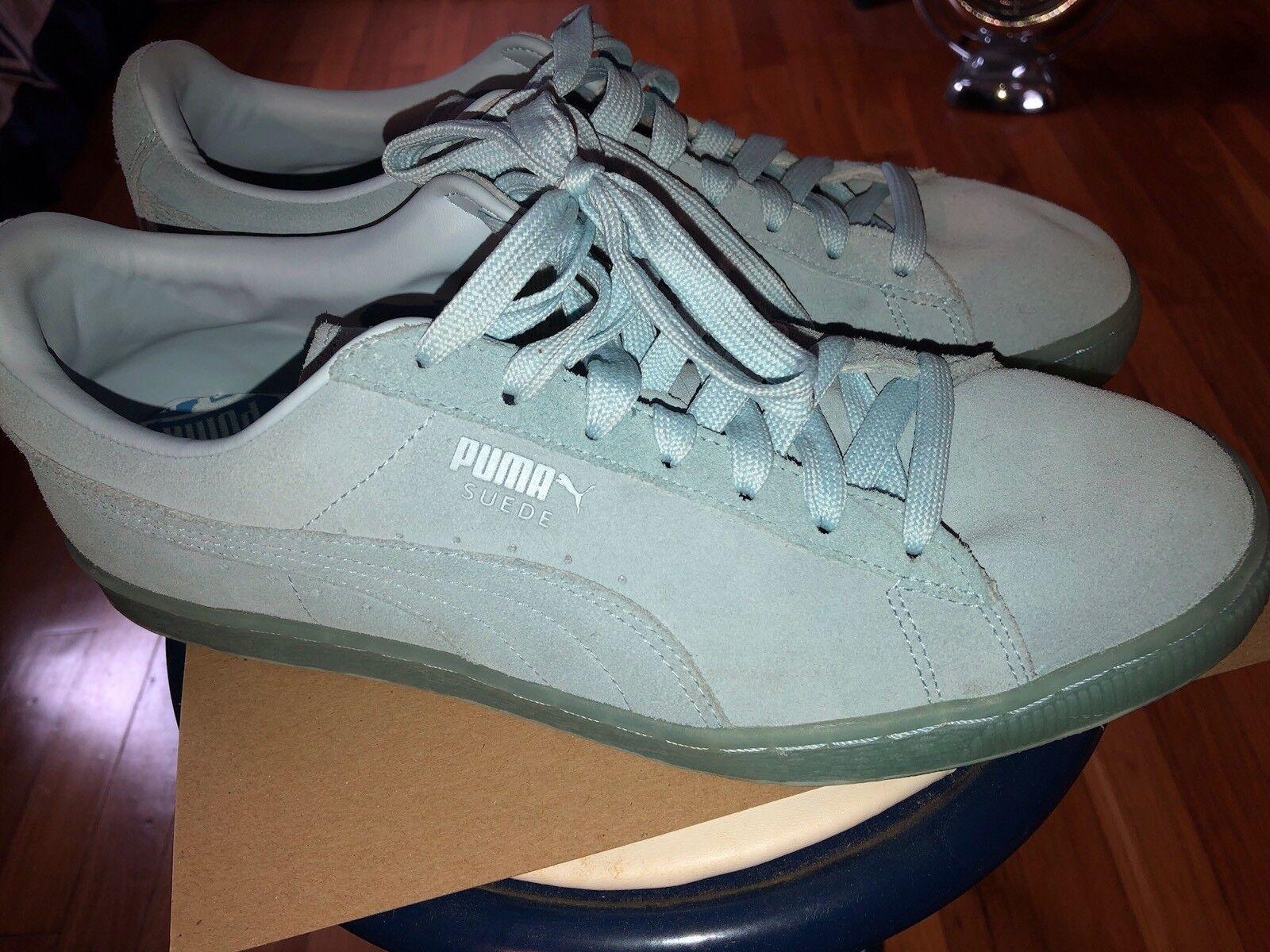 Puma Hombre Suede zapatillas de azul hielo cómoda marca de zapatillas descuento 48ba2e