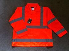 Hi Vis Viz Jacket Orange Red Warning Class 2 High Visibility Arco M L XL