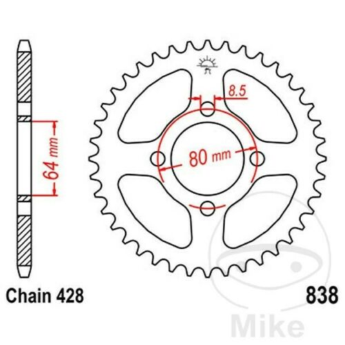 JT Rear Sprocket 42T 428P JTR838.42 Steel Yamaha RS 100 19751976