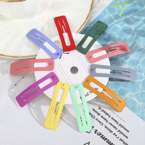 4//6//10pcs Women Resin Barrettes Hair Clips Bangs Hairpins Snap Girls Hair Clip