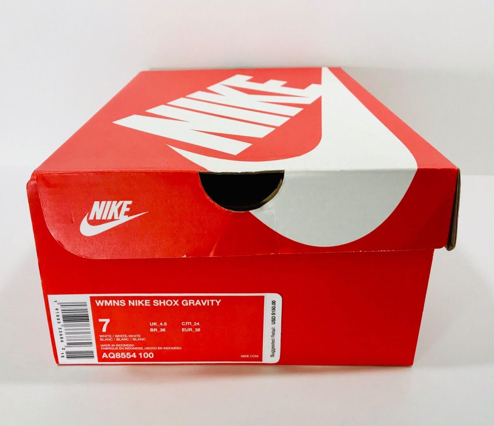 New Nike Shox Gravity Women's Women's Women's Select-a-Size White AQ8554-100 5b18d4