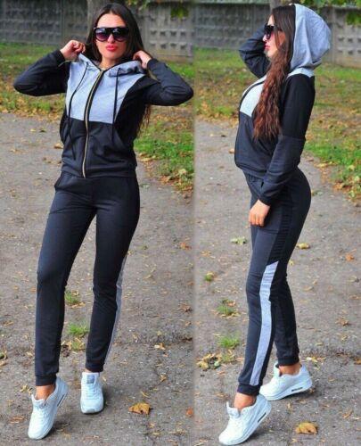 Damen Jogginganzug Jogging Jacke Hose Sporthose Top Sportanzug Fitness NEU