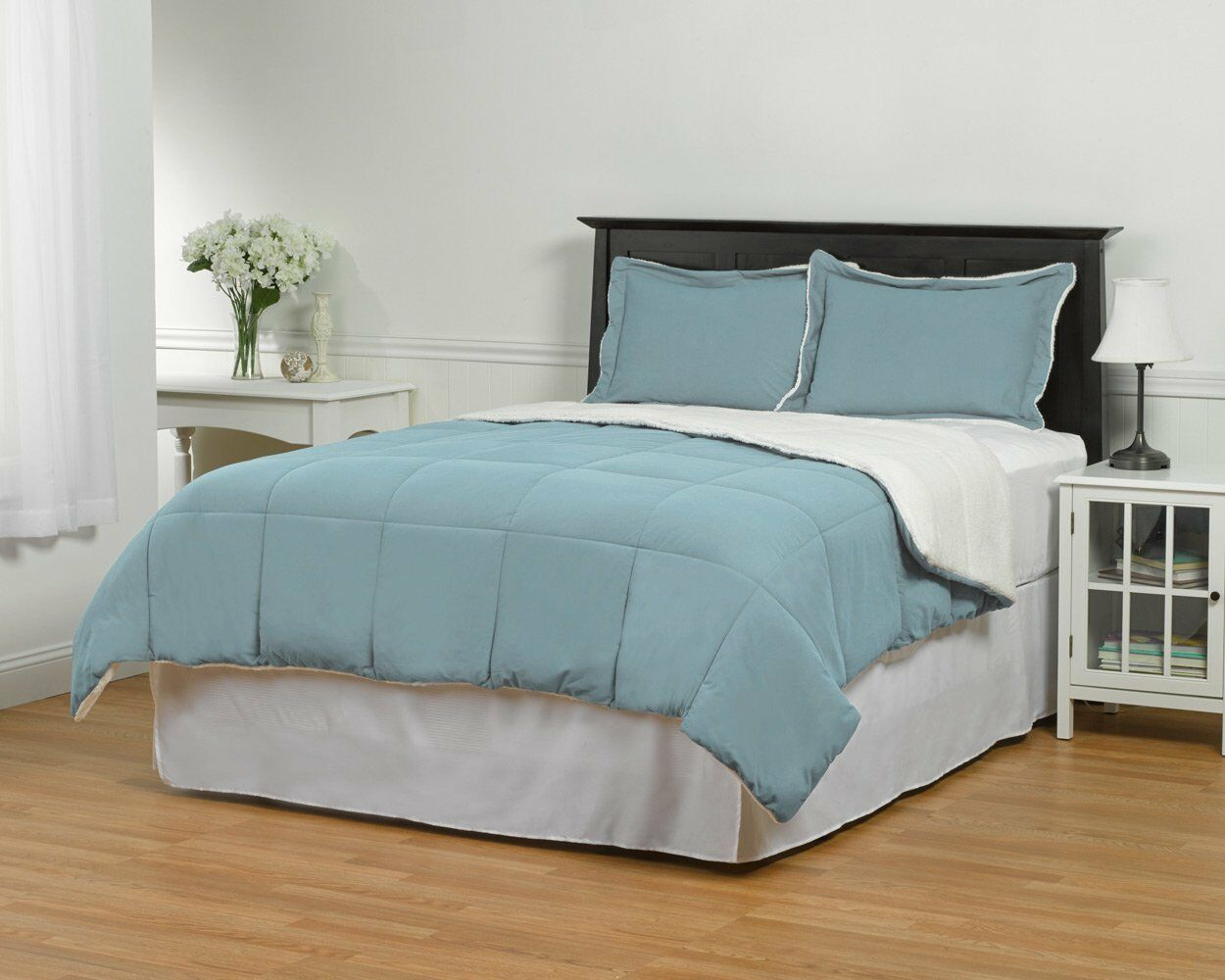 Sherpa Down Alternative Comforter Set light bluee (C1)