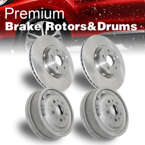 Front Rear Brake Rotors /& Drums 4 PCS For 1998-2003 Toyota Sienna