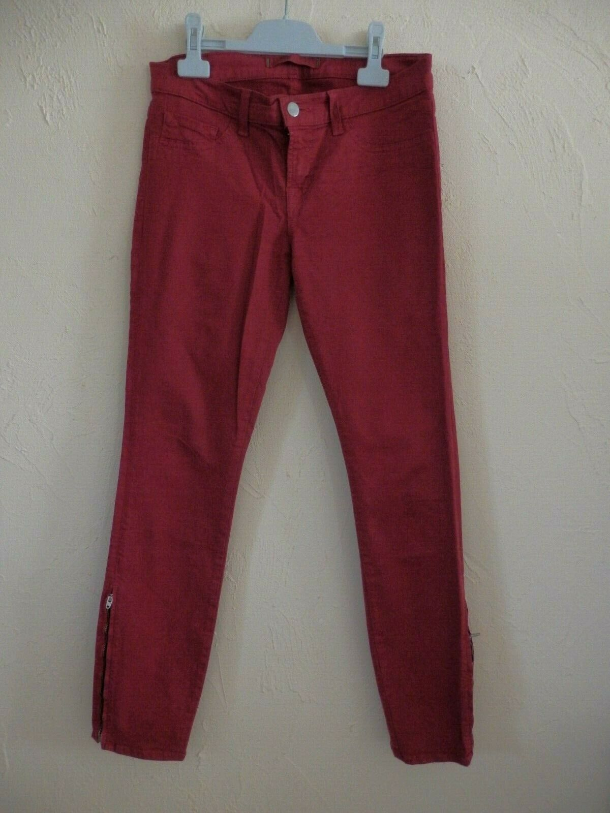 J BRAND - SKINNY JEANS - RED - T.27us either 37fr - AUTHENTIC