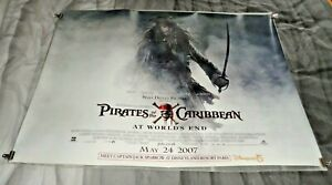 Pirates Of The Caribbean At World's End Orig UK Quad Movie Cinema Poster 2007