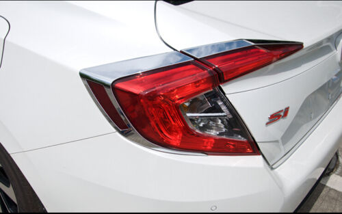 For 2016 2017  Honda Civic10th Sedan Gen Rear Tail Light Lamp Eeylid Cover