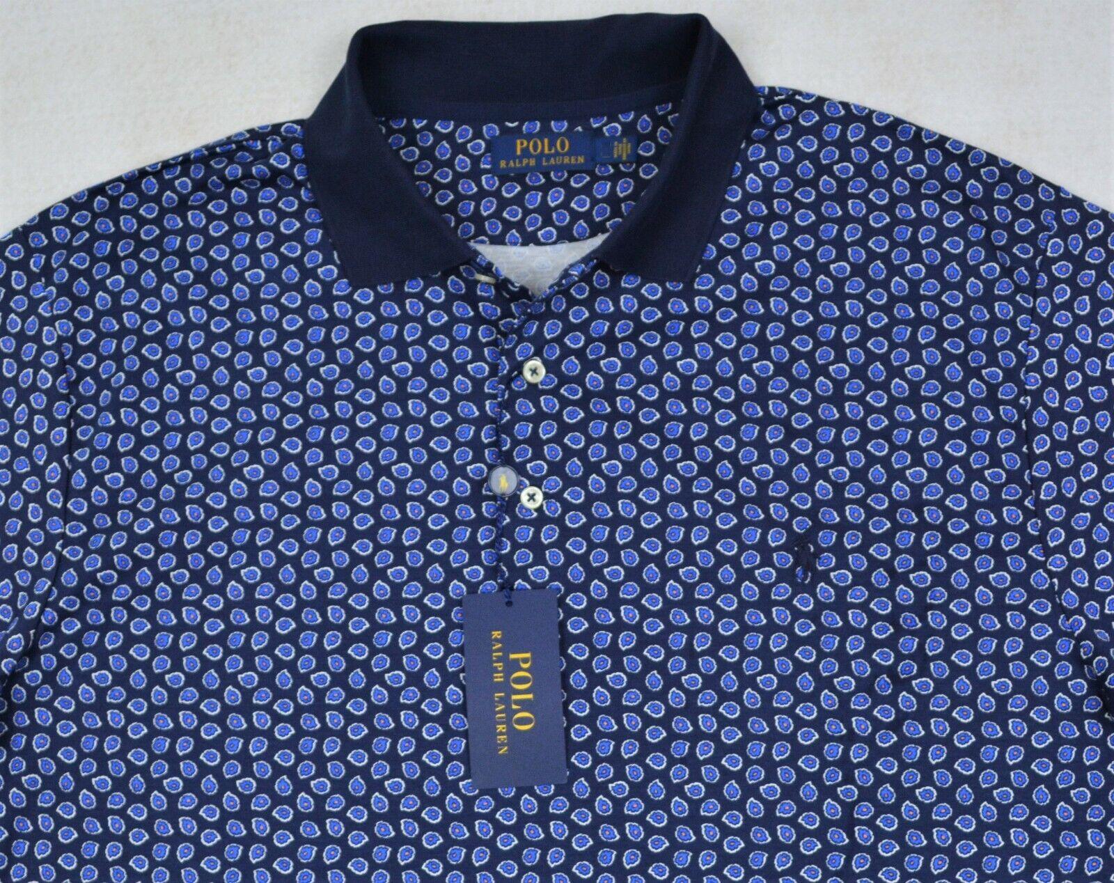 Polo Ralph Lauren Shirt Soft Touch Navy Paisley Polo 3XB & 3XLT NWT