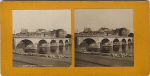 Angers-El-Puente-Francia-Foto-Estereo-Stereoview-Vintage-Analogica