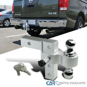 "2"" Trailer Receiver Truck RV 6"" Drop Adjustable Aluminum Tow Ball Hitch w/ Lock"