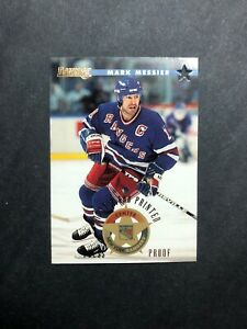 1995-96-Donruss-16-Mark-Messier-Press-Proof-First-2000-Printed-NY-Rangers