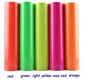 10Rolls Multicolor Price Label Paper Tag Mark Sticker For MX-5500 Price Labeller